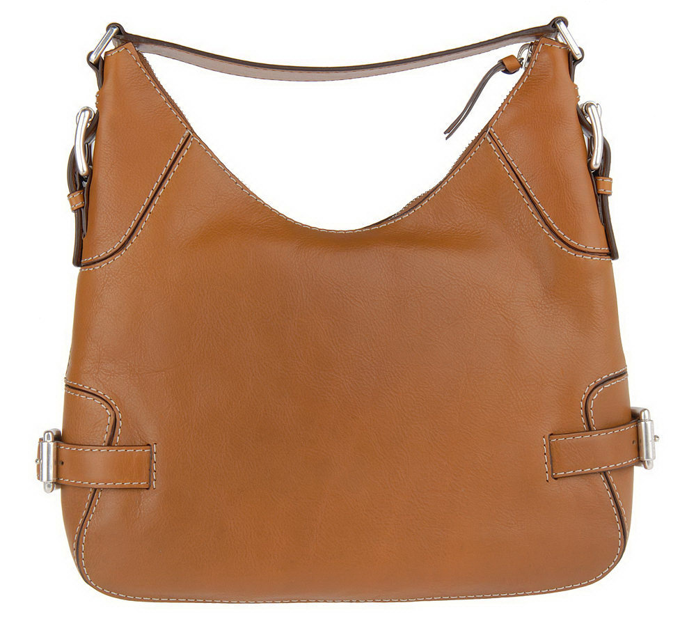 MICHAEL Michael Kors Brookville Glazed Leather Large Hobo Bag ...