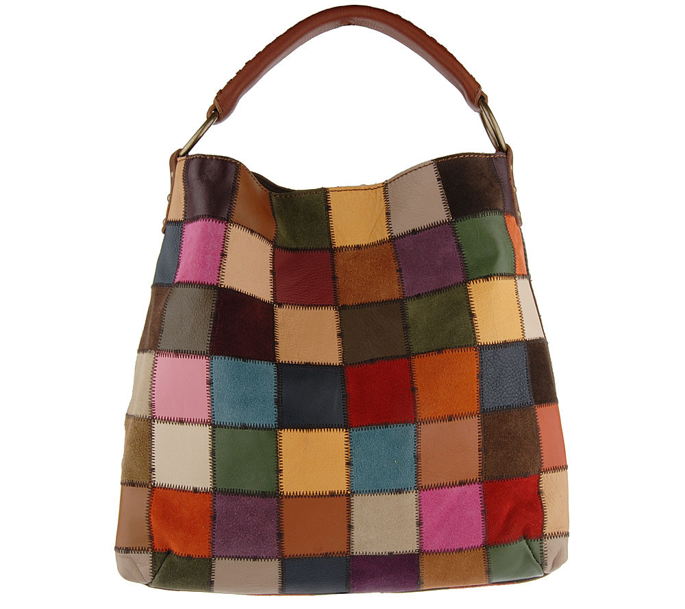 Lucky Brand Soft Leather Patchwork North/South Hobo Bag - Page 1 ...
