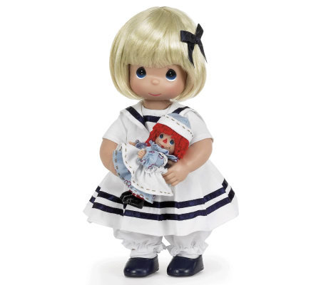Precious Moments 12&quot Marcella, The Story of Raggedy Ann Doll