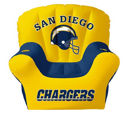 San Diego Chargers Inflatable Chair With Two Drink Holders