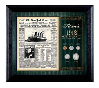 New York Times Titanic 1912  Collection Framed- 5 Coins - C213403
