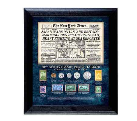 New York Times Pearl Harbor 70th Anniversary Collection Framed