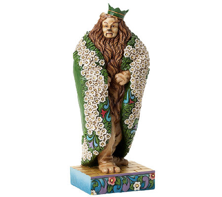 Jim Shore Heartwood Creek Cowardly Lion as KingFigurine