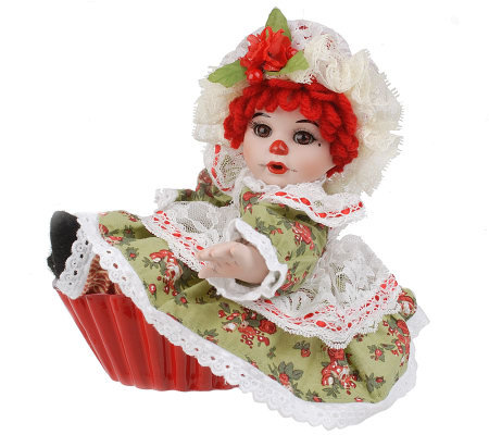 Quot Christmas Morning Quot Rag A Muffin 5 Quot Seated Doll By Marie