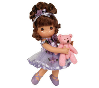 Precious Moments Dance with Me Brunette 9&quot Vinyl Doll - C213309