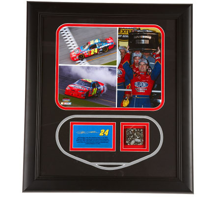 NASCAR Driver Daytona Win Framed Photo Set w/Race Audio