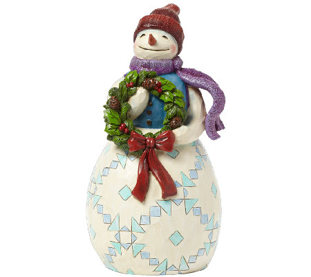 Jim Shore Heartwood Creek Snowman with Wreath
