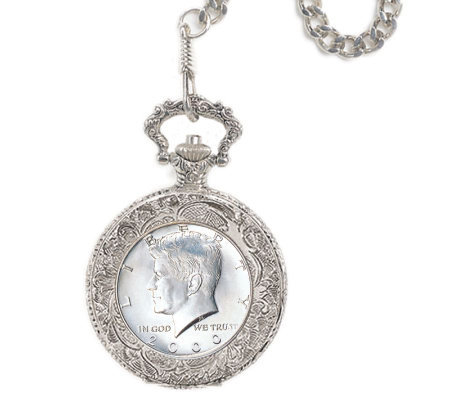 JFK Half-Dollar Pocket Watch
