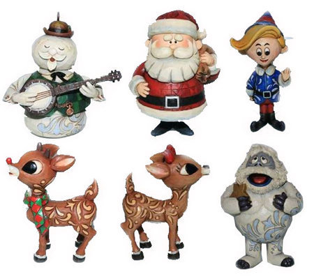 Jim Shore Rudolph Medium Size Hanging Ornaments Set Of 6