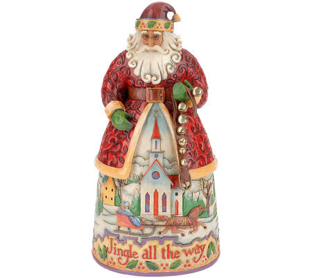 Jim Shore Heartwood Creek Santa with Jingle Bells Figurine