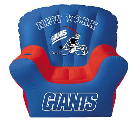 New York Giants Inflatable Chair With Two Drinkholders
