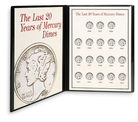 Last Twenty Years of Mercury Dimes