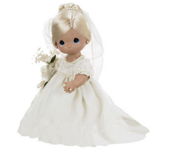 Precious Moments Enchanted Bride Blonde 12&quot Vinyl Doll - C213325