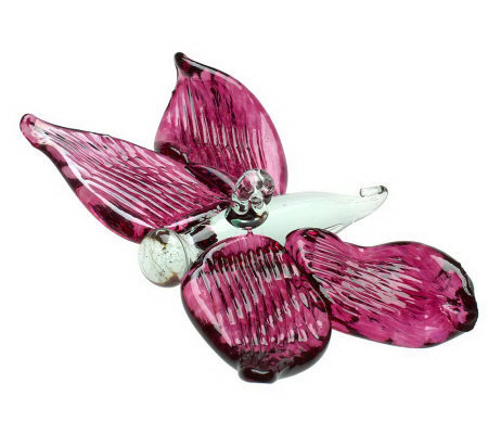 Kitras Art Glass Butterfly Ornament