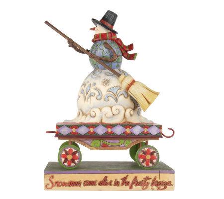 Jim Shore Heartwood Creek Christmas Train Snowman Figurine ...