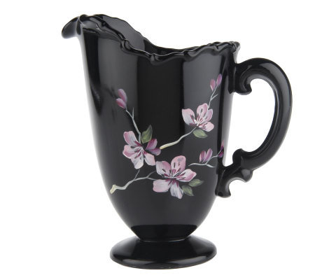 Fenton Art Glass Cherry Blossom Pitcher