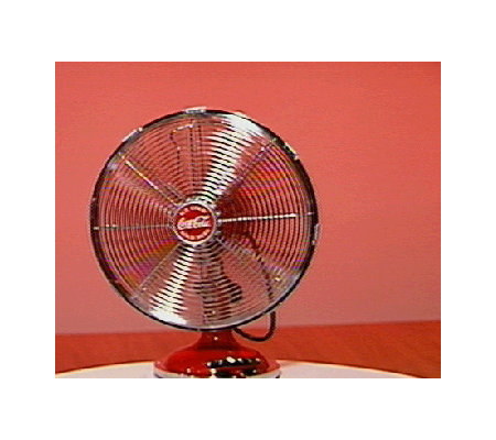 Coca Cola 12 Retro Style Oscillating Desk Fan