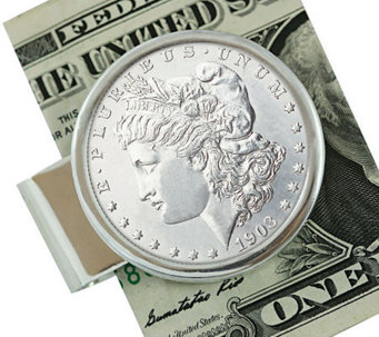 Sterling Silver Morgan Dollar Money Clip - C213741