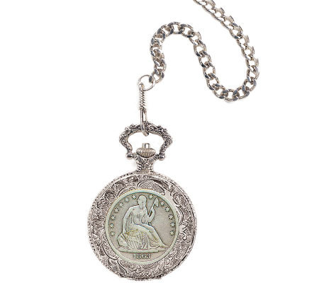 Seated Liberty Silver Half-Dollar Pocket Watch