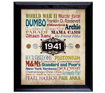 A Year in Time Celebration Wall Frame - C214047