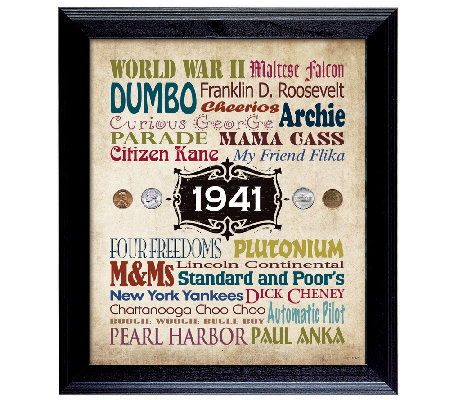 A Year in Time Celebration Wall Frame