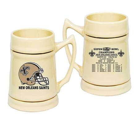 nfl new orleans saints super bowl xliv champions stein