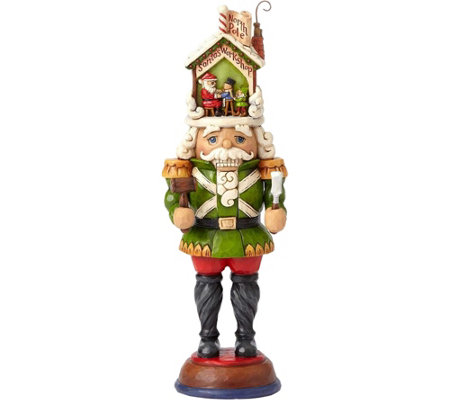 Jim Shore Heartwood Creek Toy Soldier with Santa Figurine