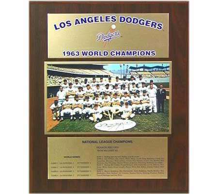 Dodgers Healy Plaque - 1963