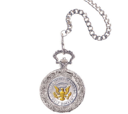 Selectively Gold-Layered Presidential Seal Pock et Watch