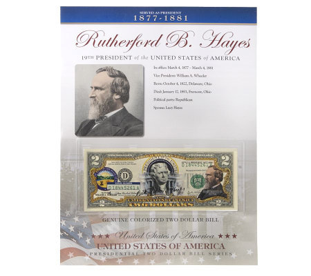 US Presidents Colorized $2 Bill Series