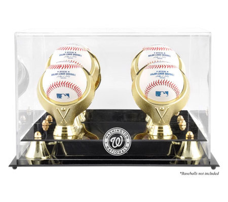 Washington Nationals Golden Classic Baseball Logo Display Case