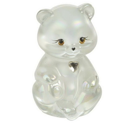 FentonArtGlass Crystal Birthstone Bears