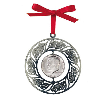 JFK Half-Dollar Christmas Ornament