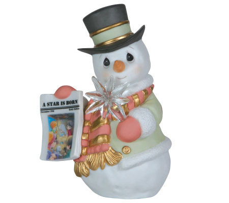 "Precious Moments ""A Star Is Born"" Snowman Holding Star"