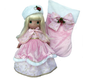 Precious Moments Pink Victorian 24th Annual Stocking Doll - C214163