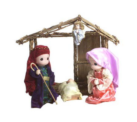 Precious Moments Nativity Set with Stable  QVCcom