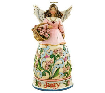 Jim Shore Heartwood Creek January Angel of theMonth - C142770