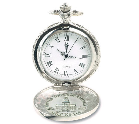 JFK Bicentennial Half-Dollar Pocket Watch