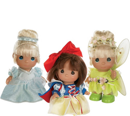 "Set of 3 5.5"" Precious Moments Mini Fairytale Dolls"