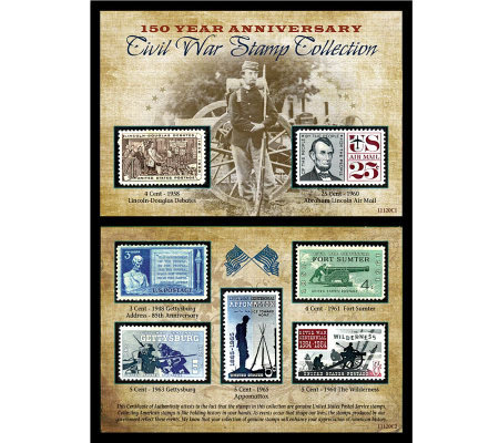 150th Anniversary Civil War Commemorative StampCollection