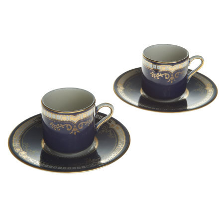 Titanic Replica 1st Class Patterned S/2 Porcelain Teacups