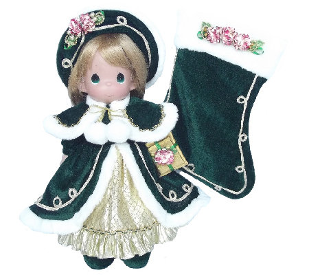 Precious Moments Green Victorian 24th Annual Stocking Doll