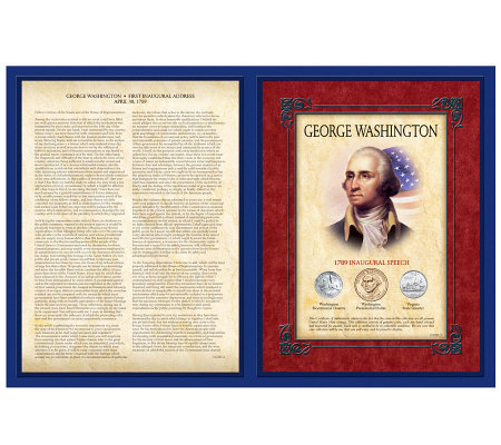 Famous Speech Series GeorgeWashington First Inaugural Address