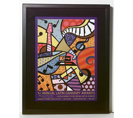 Romero Britto Latin Grammy S Limited Edition Framed Print