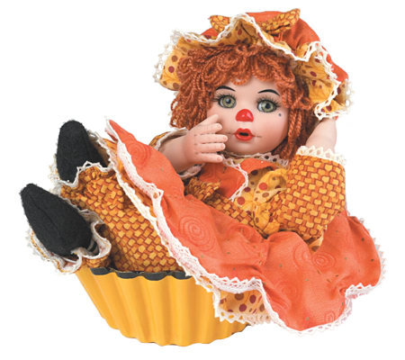 """Pumpkin Spice"" 5-inch Seated Rag-a-Muffin Doll by Marie Osmond"