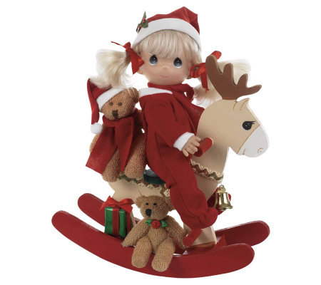 Precious Moments Rock-a-Jingle Wooden Rocker Doll