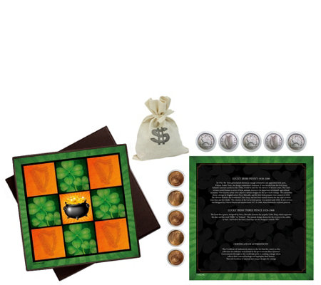 American Coin Treasures Irish Tic Tac Toe CoinBox Set