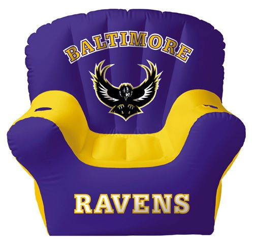 Baltimore Ravens Inflatable Chair With Two Drink Holders U2014 QVC.com