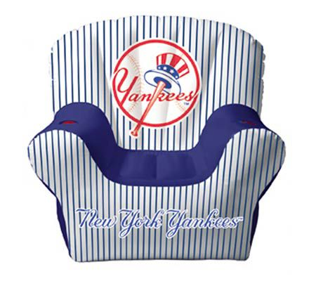 New York Yankees Inflatable Chair With Two Drink Holders U2014 QVC.com
