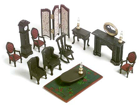 Thomastown 16pc Living Room Dollhouse Furniture Set QVC
